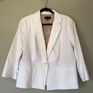 Talbots White Blazer Women's Plus size 16 Jacket